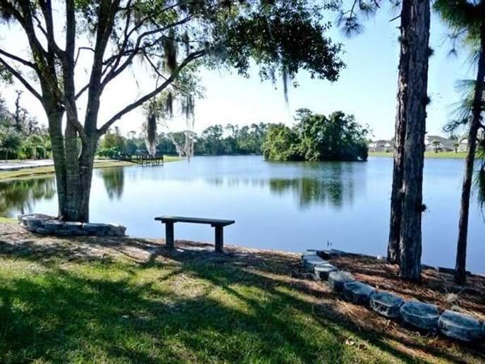 Enjoy a nice walk around the beautiful Lake