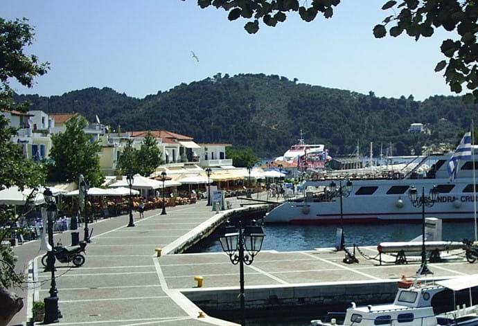 Old port tavernas - from