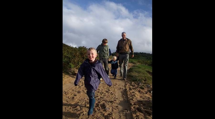 February family walk to Kiloran Bay