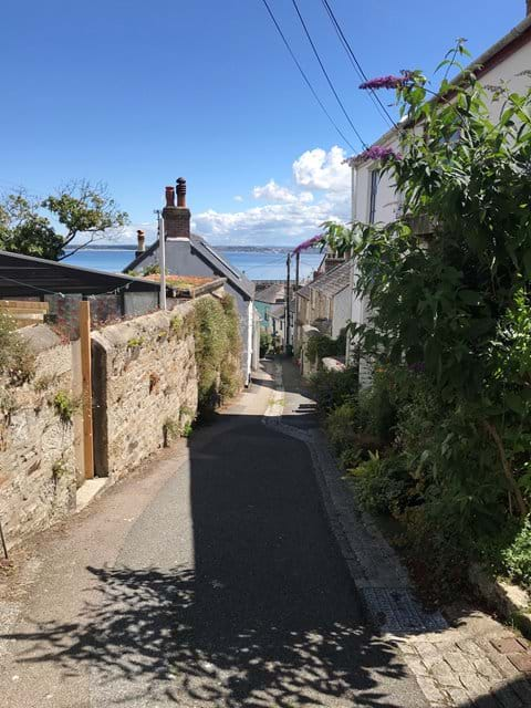 Winding, historical lanes in Newlyn