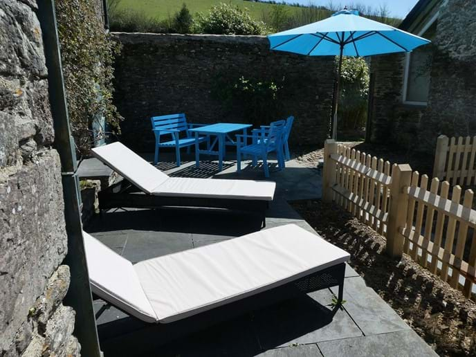 South Facing Sun Terrace for Alfresco Dining and enjoying the sunshine with fantastic views