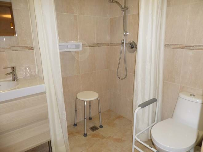 Wetroom with Removable WC Grab Rail Frame (Raised seat also available)