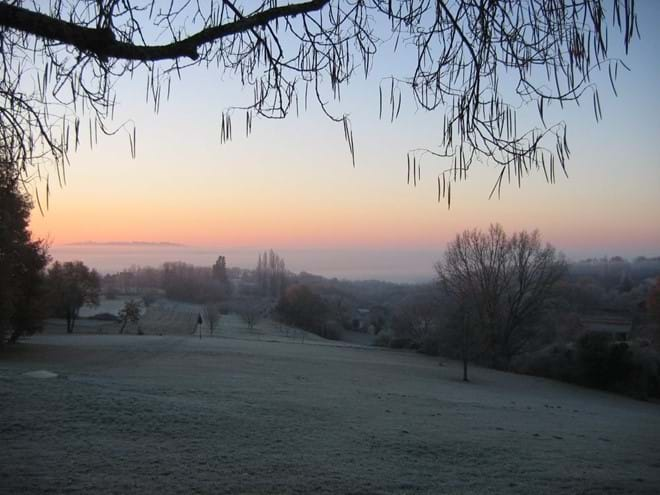 view from the self catering gite over the dordogne