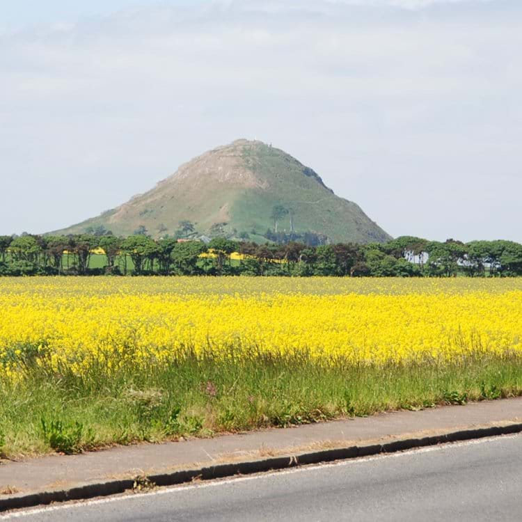 Approaching North Berwick with the Law in the distance