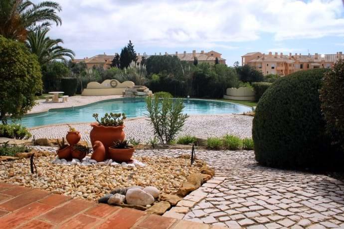 Lower Terrace overlooking pool