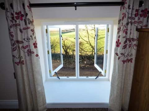 Countryside view from Double Bedroom