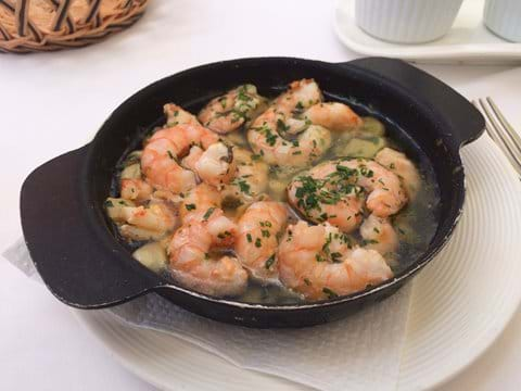Prawns in garlic - Mandy's favourite starter and available in many of the restaurants mentioned