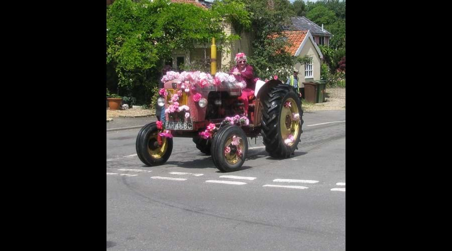 The tractor run in July local ladies raise funds for breast cancer, over 100 tractors.