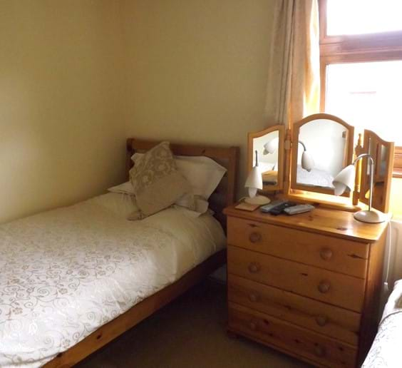 Twin beds in the second bedroom together with SMART TV / DVD player