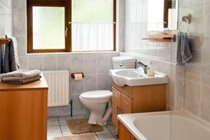 Main bathroom with bathtub