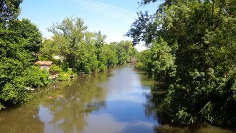 River Dronne at Bonne