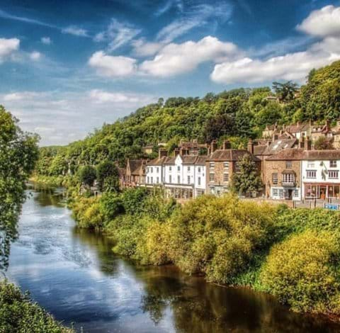 Lovely view taken from the Iron Bridge you can see Ironbridge View Townhouse