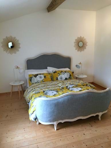 Double bedroom with corbiere bed.