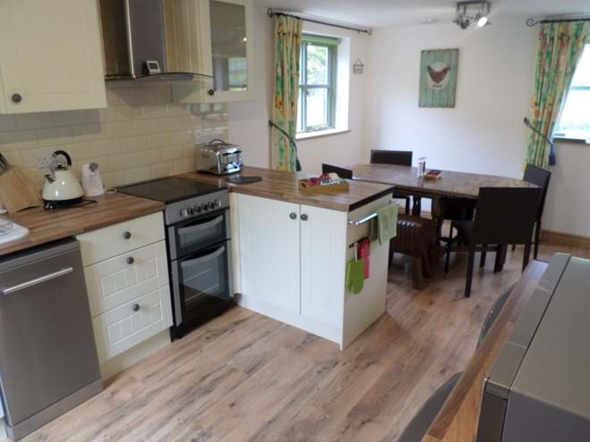 Kitchen with Fridge, Freezer, Dishwasher, Double Oven and Microwave