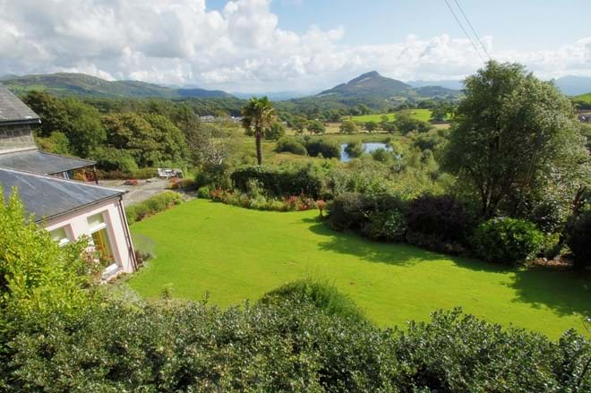photo showing views from garden at Eisteddfa self catering family and group house Criccieth