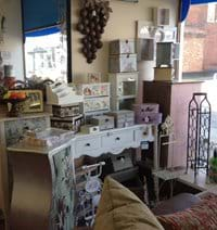 A selection of vintage and shabby chic accessories