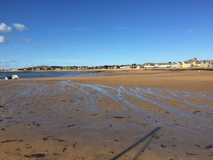 Elie beach - a 10 minute drive or a beautiful five mile walk along the coast