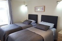 Atlantic Gold Lodge 35. Twin Bedroom. Atlantic Reach Gold Lodges. www.newquay-selfcatering.com