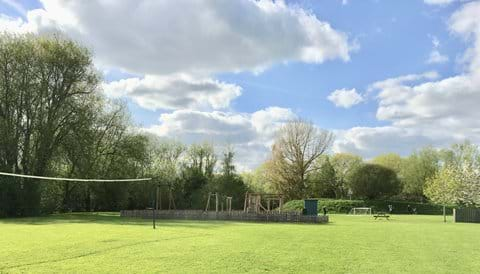 Volleyball courts and plenty of area to play at Windrush