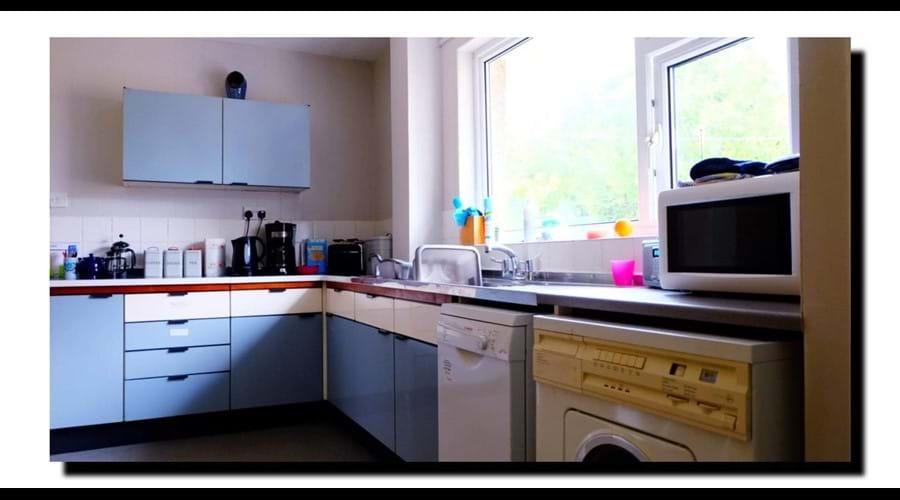 Kitchen-genuine 60's Hygena units. Electric equipment updated!