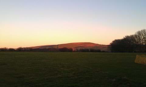 view looking east to Exmoor