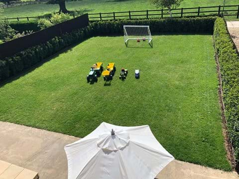 Outdoor toys in a secure garden, child friendly self catering