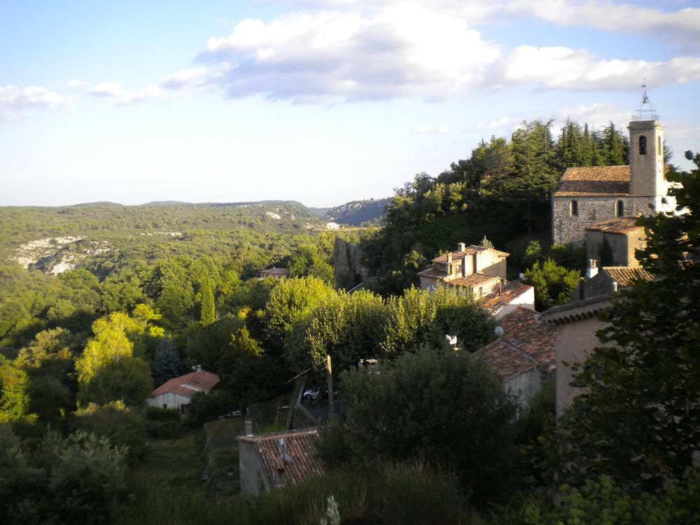 View from the top of the village