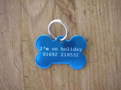 Dog tags for your dogs to wear during their stay.