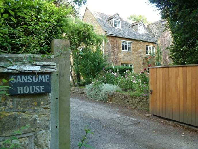 Entrance gate to the house and cottage