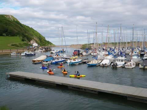 Canoeing in Axmouth harbour