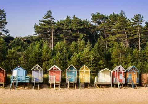 Beach huts Wells-next-the-Sea