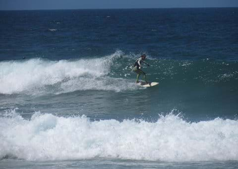 Surfing near villa