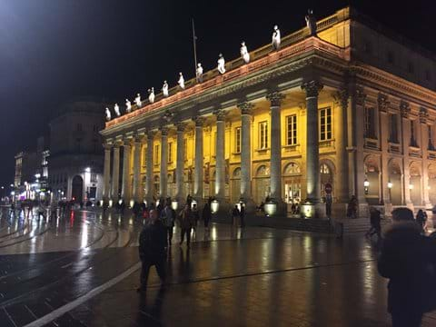 Front of Bordeaux Opera House