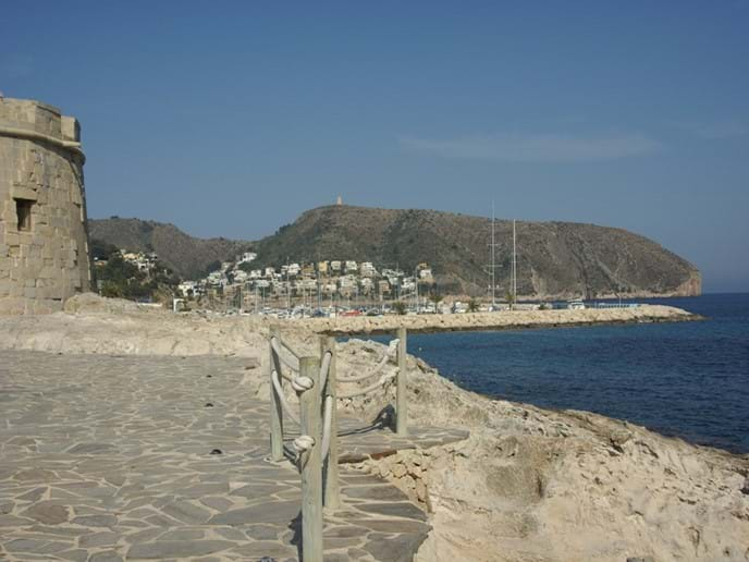 Moraira castle on the sea-front