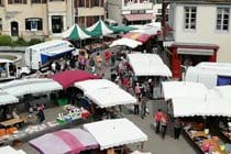 The lively Thursday morning market in Salies de Béarn