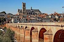 View of Nevers from the bridge crossing the Loire.