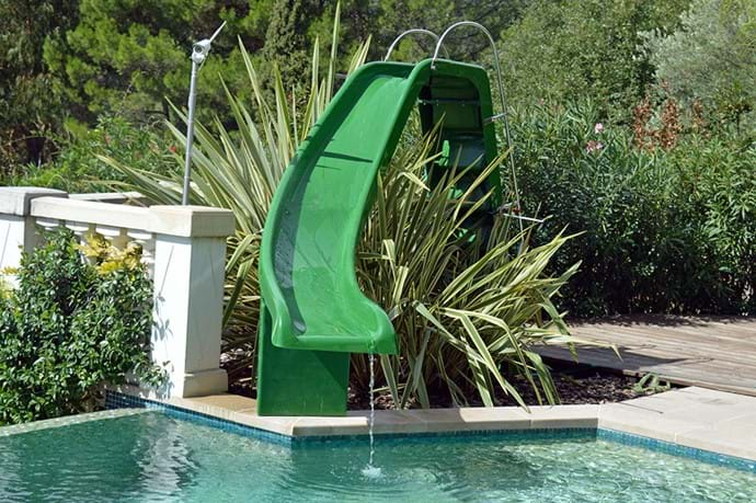 September 2016 - Water Slide installed.  A fantastic new feature.  2.3 metres (7