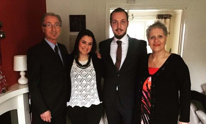 Salva and family at Thistledowne on his Graduation Day