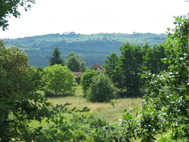 Dordogne views from the garden of our gites