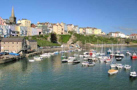 View over Tenby harbour