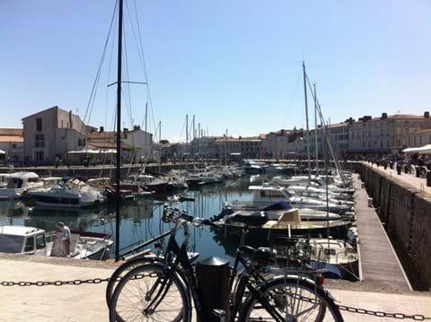 The picturesque harbour of St Martin-en-Re.