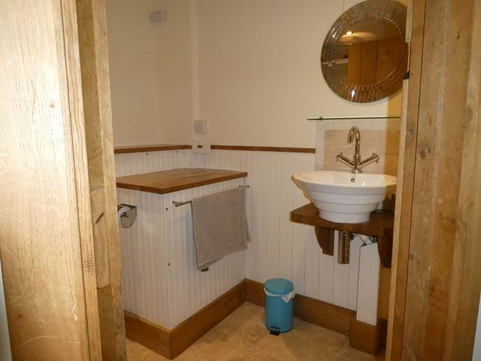 Limestone Shower Room