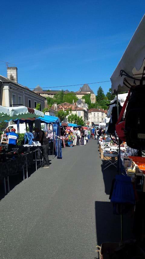 Chalais Monday morning market (10 kms)