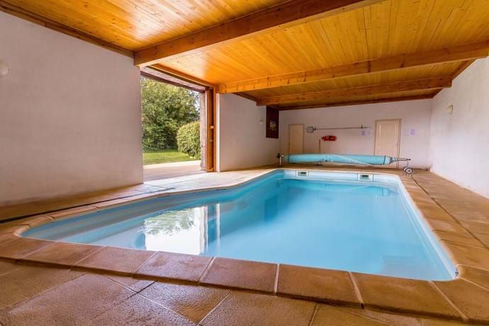 Indoor heated pool room