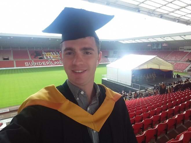 Angelos at his graduation