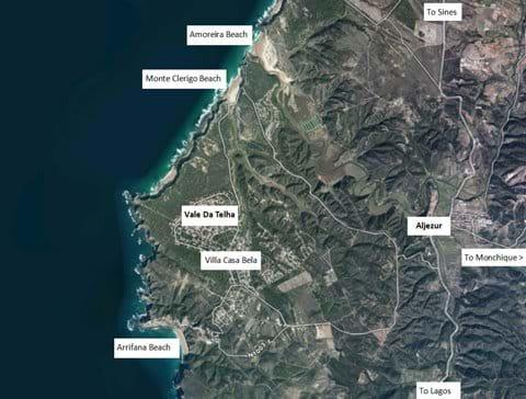 Local area - villa location, beaches and Aljezur