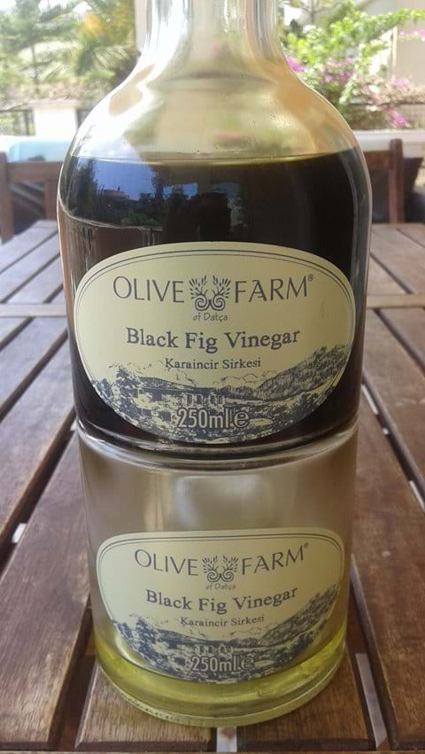 """Beautiful and exotic """"Black Fig Vinegar"""" from Olive Farm of Datca"""