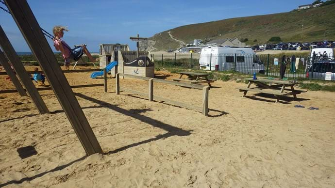The playpark is right next to The Unicorn on the Beach, our lovely village pub.