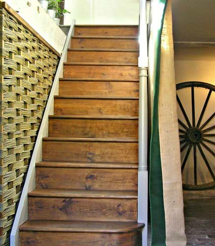 Stairs up to main floor