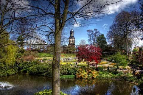 The Quarry Park in Shrewsbury